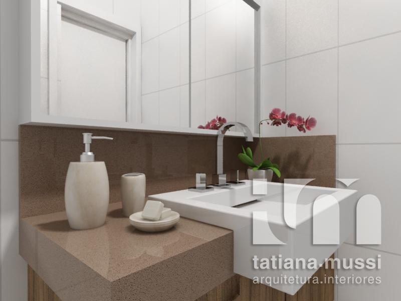 Tatiana Mussi Arquitetura e Interiores banheiro casal -> Cuba Banheiro Silestone