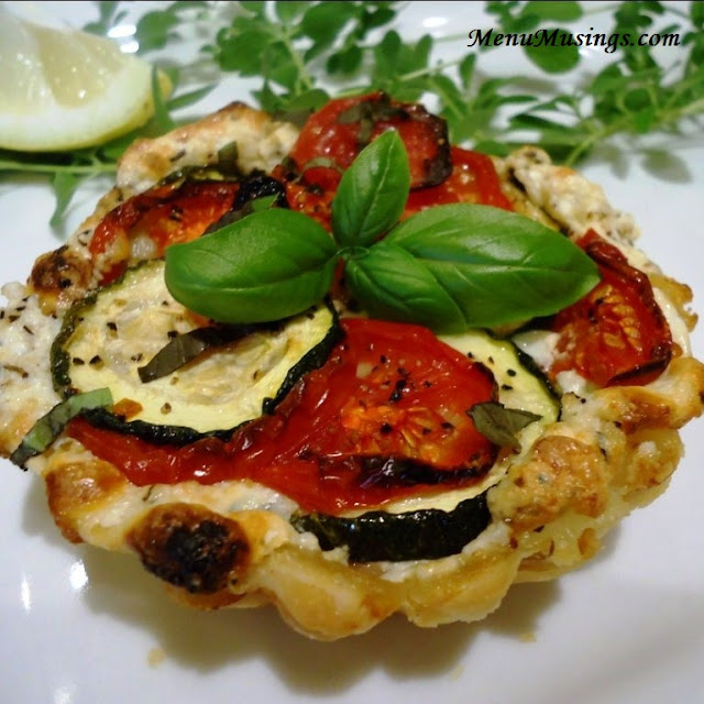 ... Musings of a Modern American Mom: Tomato, Zucchini and Ricotta Tarts