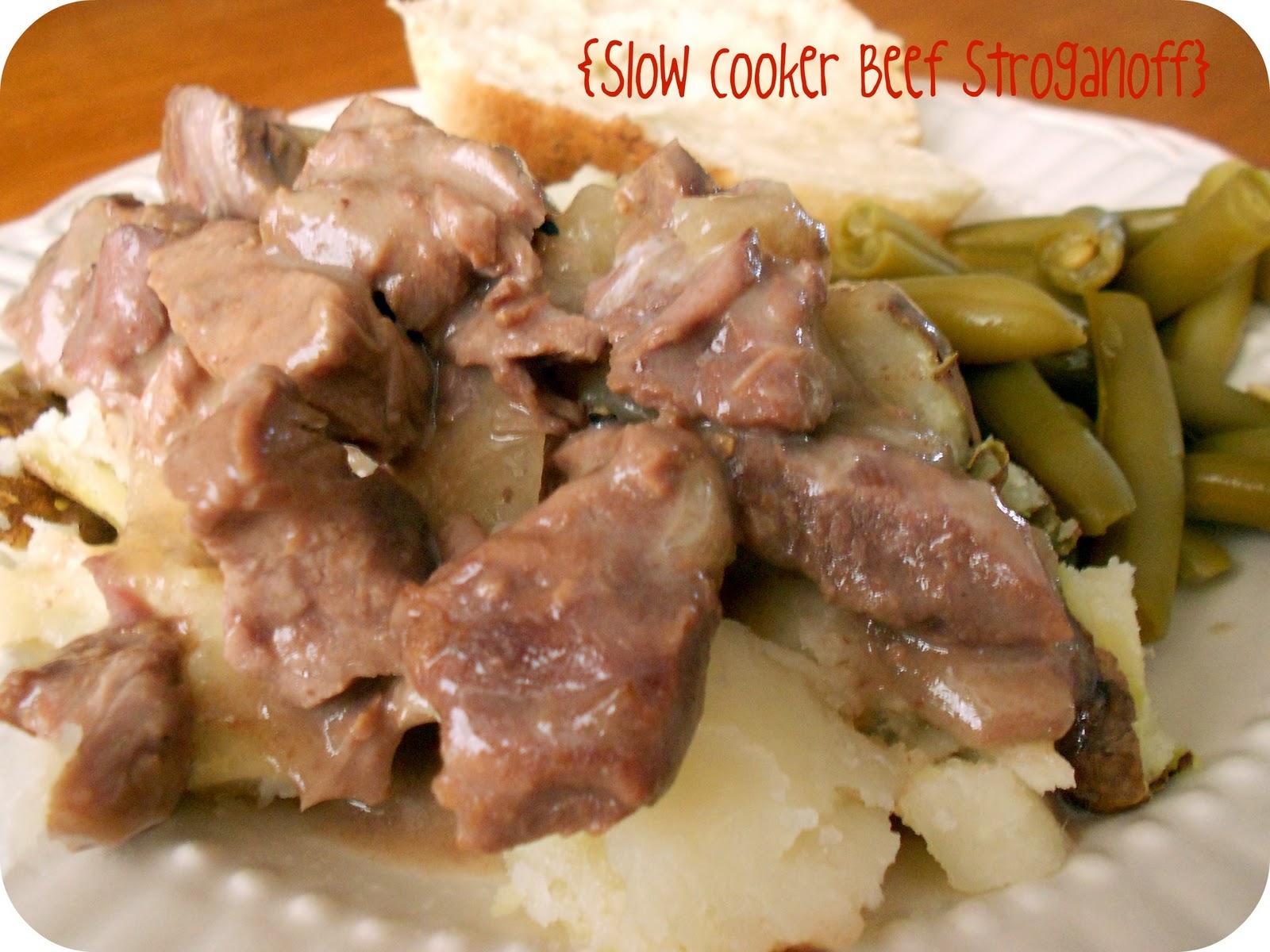 Slow Cooker Beef Stroganoff {Freezer Meal} | Six Sisters' Stuff