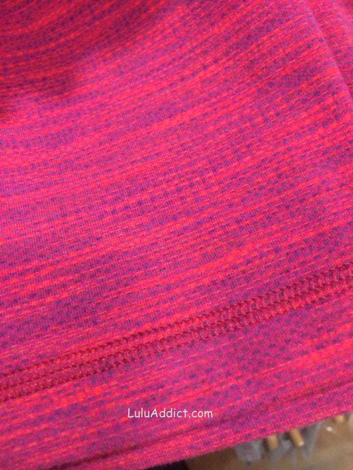 lululemon flaming tomato space dye