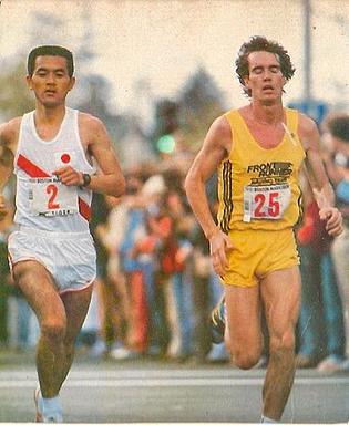 1981年の「ボストン」マラソン: <br> 瀬古(1位) とヴァージン(2位) との一騎打ち