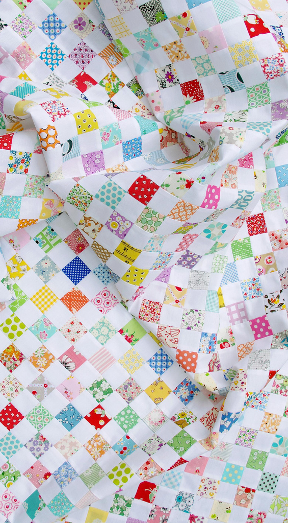 A Checkerboard Quilt and a Strip Piecing Tutorial - Red Pepper Quilts
