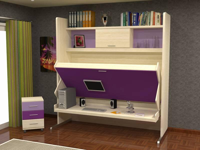 Camas abatibles con escritorio for Camas juveniles con escritorio incorporado