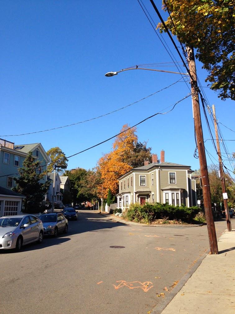 Jamaica Plain Boston in the fall