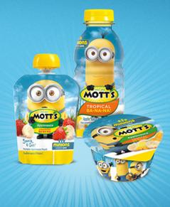 motts minion branded products