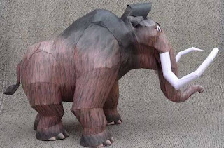 Ice Age Papercraft Manny Woolly Mammoth
