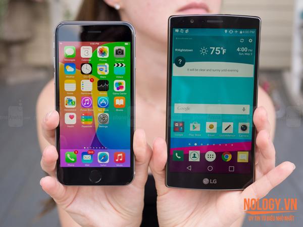 Điện thoại iPhone 6 Lock và LG G4