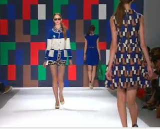 milly+blue+white Mary Hall: New York Fashion Week: Milly by Michelles Modern Look at Spring/Summer 2012