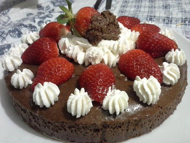 Bolo Mousse de Chocolate Diet