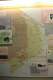 Karte von großen Kämpfen des Krieges in Vietnam