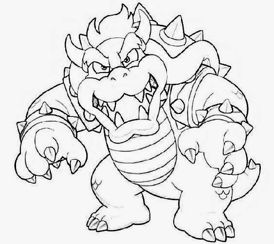 Super Mario Bros Bowser Coloring Pages - Colorings.net