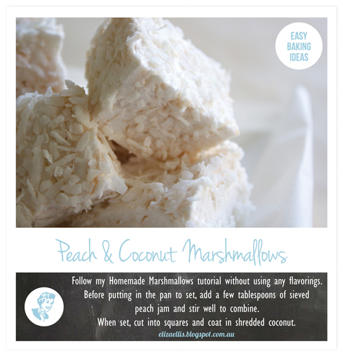 Peach & Coconut Homemade Marshmallows - Easy Baking Ideas by Eliza Ellis