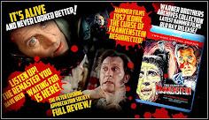 BELOW: FULL REVIEW OF WARNER BROS REMASTERED 2 DISCS BLU RAY HAMMER FILMS THE CURSE OF FRANKENSTEIN