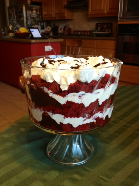 Everyday Blessings...: Red Velvet Trifle...