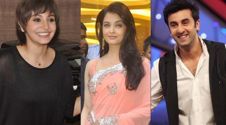 Ranbir kapoor, Anushka Sharma and Aishwarya Rai Bachchan