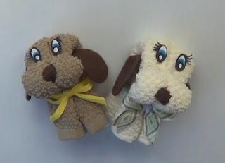Cómo hacer un perrito con una toalla, manualidades sencillas,Cómo hacer un perrito con una toalla, toallas con formas, manualidades fáciles