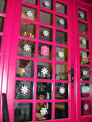 La neige est tombée au salon de coiffure Studio 54 à Montpellier.