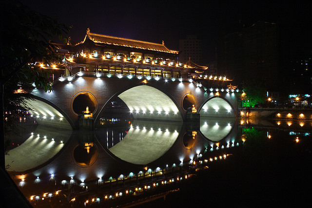 Lounge bridge in Chengdu