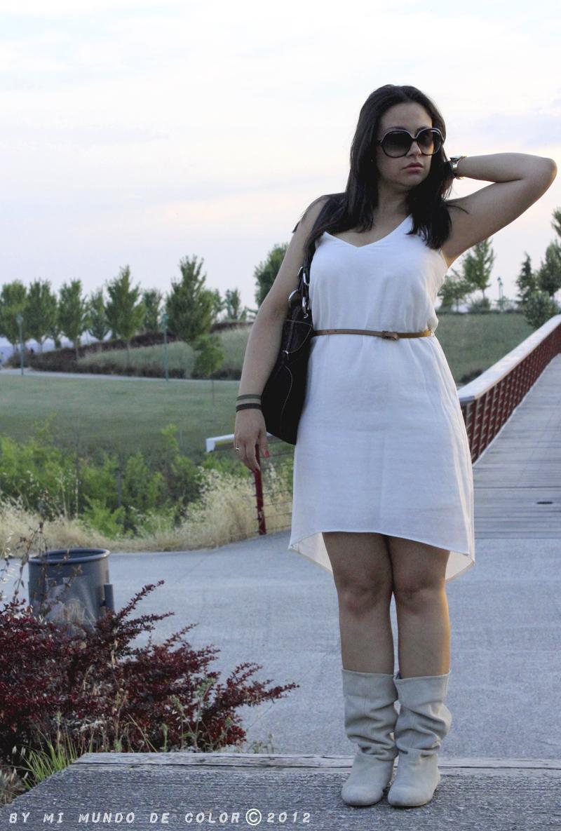 look asimetric dress