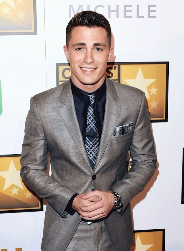Colton Haynes Emporio Armani suit 4th Annual Critics Choice Television Awards
