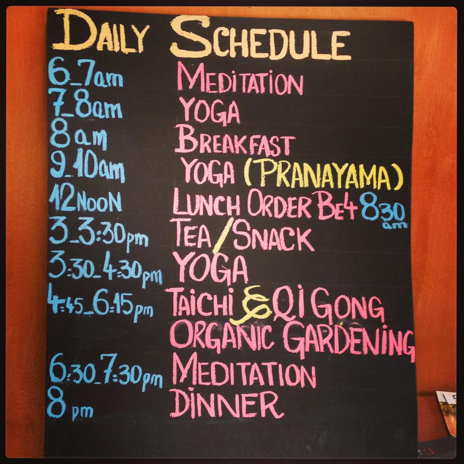 Yoga Schedule Siem Reap Cambodia