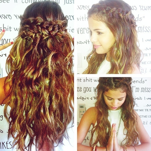 This is for the girls with curly hair. Selena Gomez inspired braid