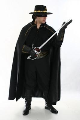 fantasia masculina Zorro