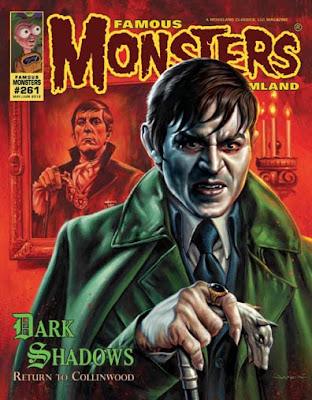 Cover of Famous Monsters of Filmland #281 featuring Johnny Depp as Barnabas Collins