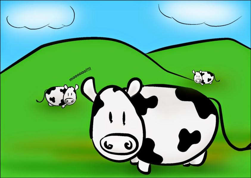 Contoh Gambar Kartun Sapi Lucu Terbaru  Gambar Kartun