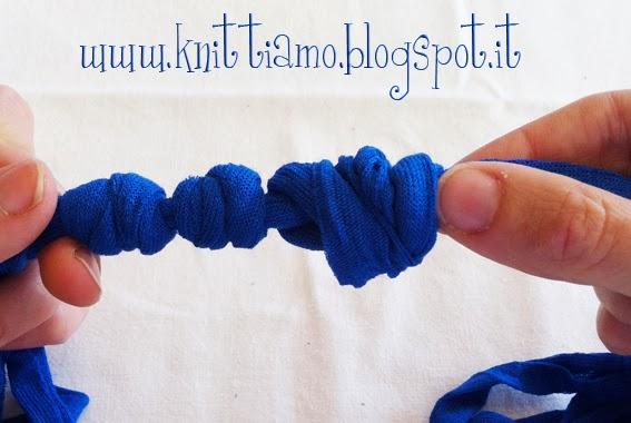creare una collana con la fettuccia