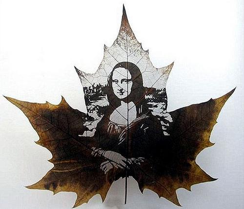 Tác phẩm điêu khắc từ lá