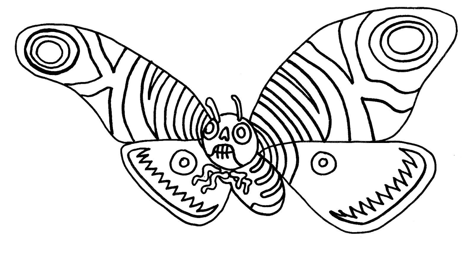 yucca flats n m wenchkin u0027s coloring pages mothra