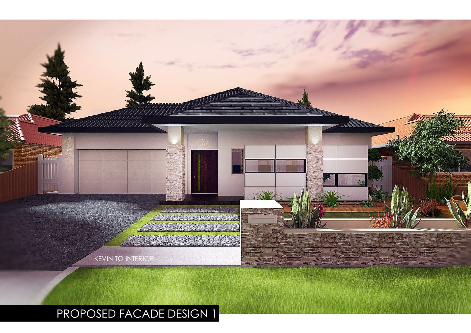 Interior design by kevin to australian single storey house for One storey home