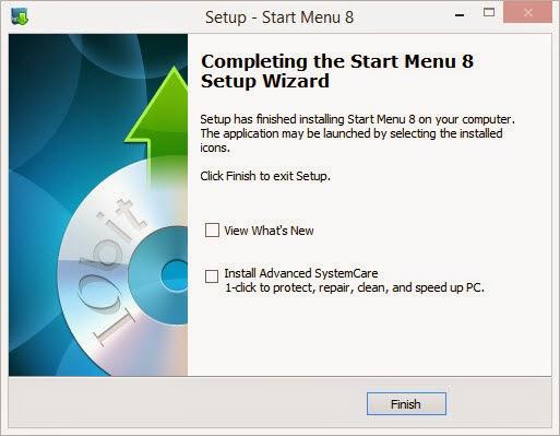 ขั้นที่ 6 ติดตั้งโปรแกรมเปลี่ยน Start Menu บน Windows 8.1 เสร็จแล้วละ