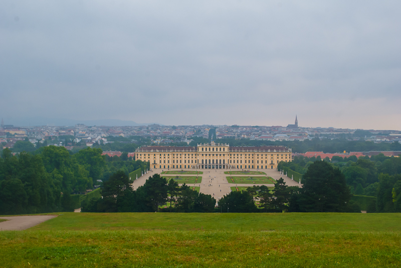 Panoramic view from the gloriette in Schoönbrunn Palace in Vienna, Austria