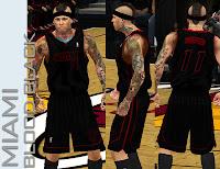 NBA 2K13 Miami Heat Blood Black Fictional Jersey