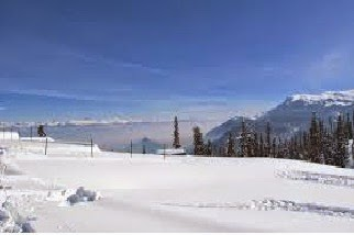 Snow cover in Kashmir