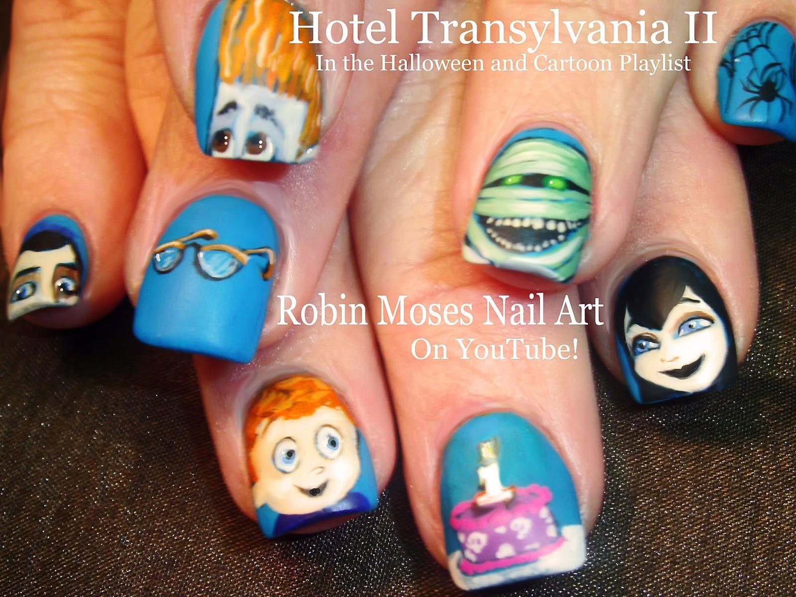 Robin moses nail art hotel transylvania 2 nails hotel hotel transylvania 2 nail art in both the halloween nail art playlist and the cartoon playlist both linked below prinsesfo Images
