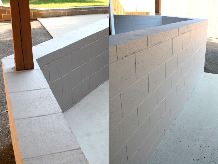 Lovely How To Paint Cinder Block.