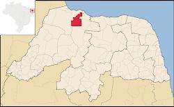 Mapa da Serra do Mel/RN