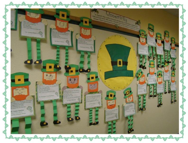 Classroom Leprechaun Ideas ~ A full classroom limerick leprechauns