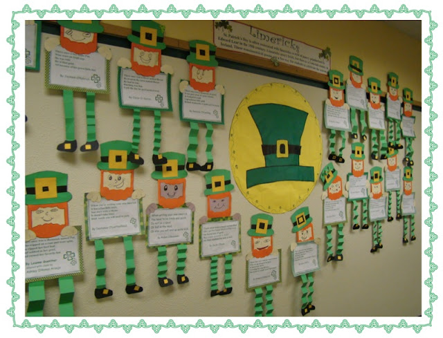 Leprechaun Classroom Visit Ideas ~ A full classroom limerick leprechauns