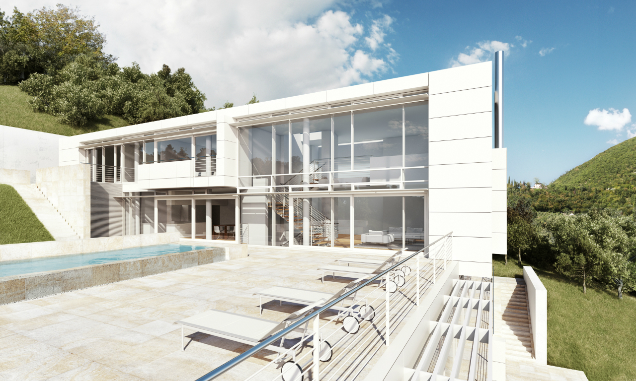 Architecture as aesthetics villa gardone richard meier for Villa architect