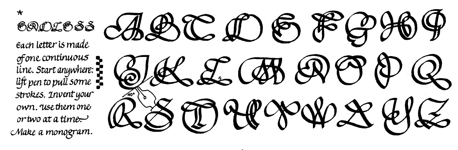Gothic calligraphy alphabet a z imgkid the