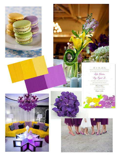 Wedology By Dejanae Events Yellow And Purple Inspiration