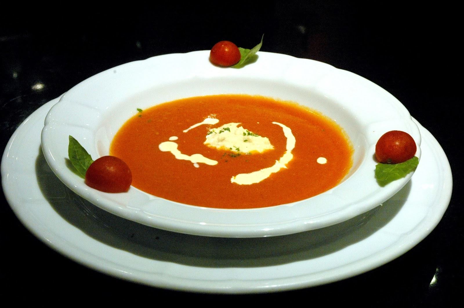 ... ravioli with ricotta cheese in tomato sauce, a simple dish with rich