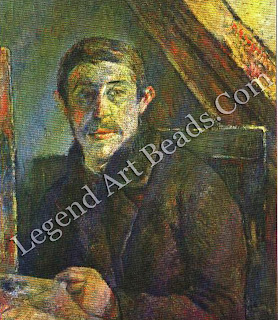 The first self-portrait Gauguin painted dates from about 1885, two years after he had abandoned commerce for art in his mid-thirties.