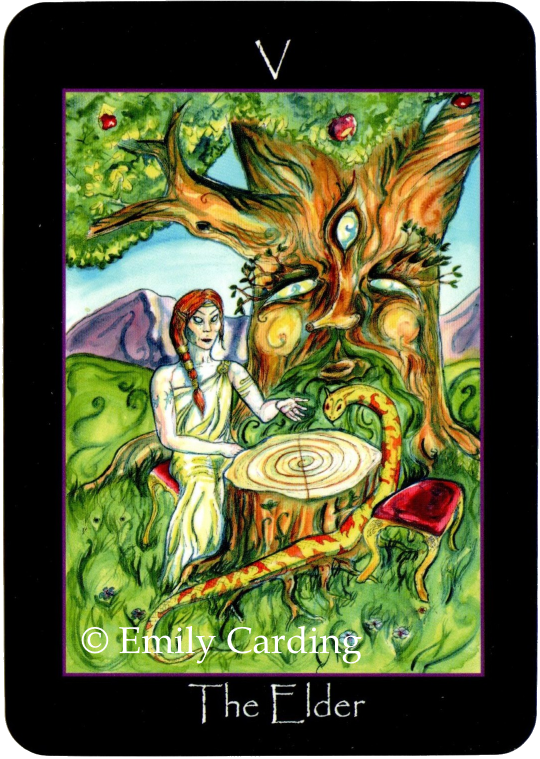 Tarot of the Sidhe The Elder Emily Carding