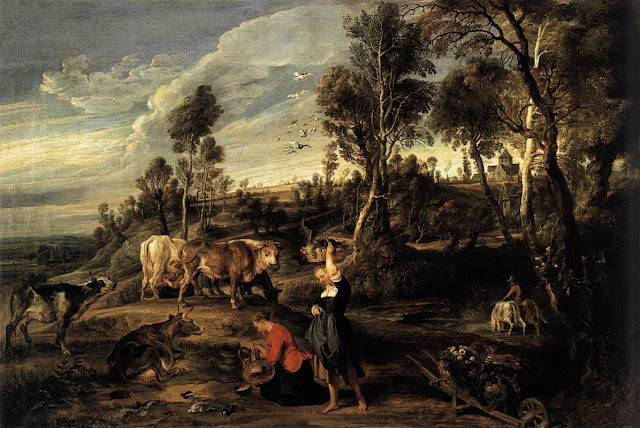 Farm at Laken 1618, Peter Paul Rubens, Baroque Painting