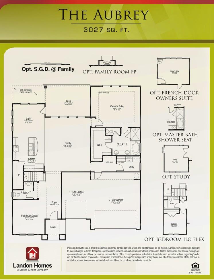 Landon homes featuring the aubrey floor plan benton for Landon homes floor plans